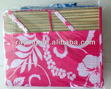 Prtinted folding Natural straw beach mats,fashionable,expecial design and popular-Alice