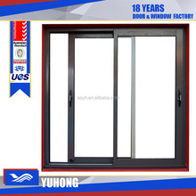 Hot sell new design customize OEM Aluminum sliding window with mosquito net