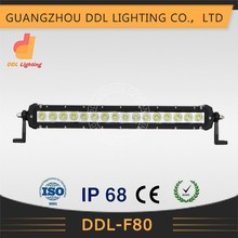 5W each C ree High Quality Work Light Bar Single Row 80w LED Bar for ATV SUV from Manufacturer