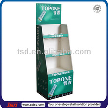TSD-A800 Custom floor standing led light bulb display stand/shop advertising display stand/lamp display shelf