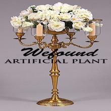Súper ventas de la boda candelabros en venta, decorativo de la boda de altura candelabro pieza central