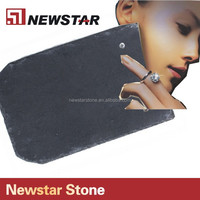 Natural surface Finishing black slate roof tile