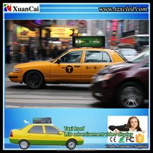 3G full color P5-64x192RGB (985x444x240mm) Video LED taxi Top/Roof advertising LED display sign/module/screen/panel