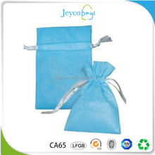 JEYCO BAGS Small size cheap non woven drawstring gift bag with custom printing