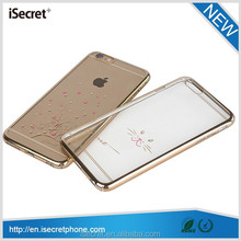 New Arrival full protect bling diamond PC phone case for iphone 6