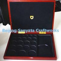 Custom antique wooden coin box