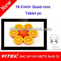 """Hot 18.5"""" Android camera 10 point multitouch cheap tablet pc with front and back camera"""
