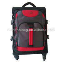 fashion high quality waterproof and durable nylon brand trolley travel bag case