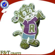 2013 funny animal shaped cartoon lapel pin for kids