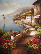 well painted mediterranean oil paintings with quality testing accept