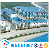 Eps Cement Sandwich Panel Fast Installation Two-Storey Steel Grill Design House