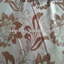 Luxury Floral&Leaf Design Fleece Base Blackout Jacquard Curtain Fabric