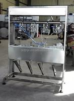 CE standard manual 4 nozzles isobaric beer bottle filler 500 bottles per hour