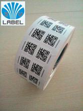 cheap price custom qr code sticker roll sticker vinyl qr code sticker adhesive