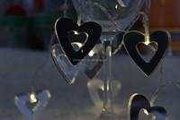 10L string mirror light battery light heart