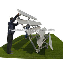 Ango assemble bleachers aluminum/plastic seats outdoor public seating light and easy to move