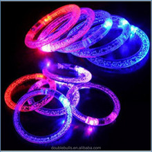 Customized Multi colors Acrylic Event Party Supplies Decoration Flashing Bracelet Armband Lighting Flash Sticks Festival