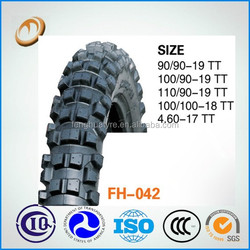 motorcycle tyre made in china 110/90-19 motocross tyres