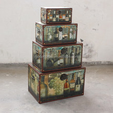 Antique Home Storage Wooden Trunk