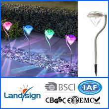 New arrival solar garden light outdoor solar lamp product XLTD-771 mini stainless steel colour garden solar light