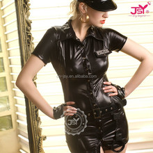 New style police office girls costume,japan black police costume,police catsuit costume