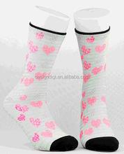 Young girls cheap striped socks fashion evening dress grip socks