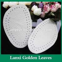 Calfskin leather arch support forefoot pad Half leather insole women sexy shoes