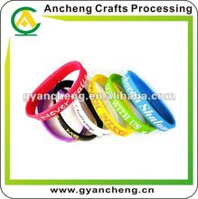 New designs print colors world cup 2014 silicone rubber bracelet pen