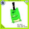Cartoon frog design custom cheap plastic pvc luggage tag