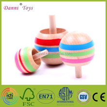 Factory Sale Hot Sale Children Wooden Spinning Top Toy