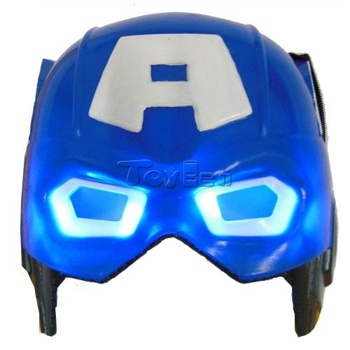 Marvel's The Avengers Captain America Mask with LED Blue Light for Masquerade Party Halloween Cosplay Mask