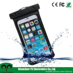 10 meter transparent pvc mobile phone waterproof bag for iphone 6 plus