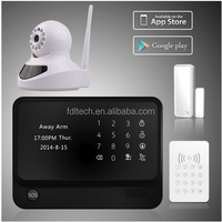 Stable quality SMS wireless GSM auto-dial intelligent home industry security alarm system with SOS button wifi alarm system
