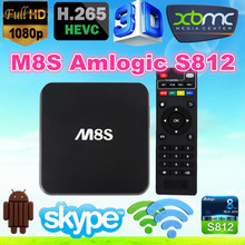 2015 New Amlogic S812 M8S Quad Core Android 4.4 Quad Core TV Box ENY EM8S M8S