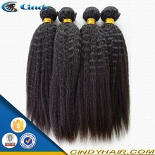 natural black raw unprocessed yaki straight virgin indian hair wholesale