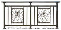 Iron grill design for balcony made in china YT002