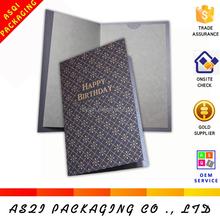 high end birthday card, hot stamping birthday card, luxury business birthday card