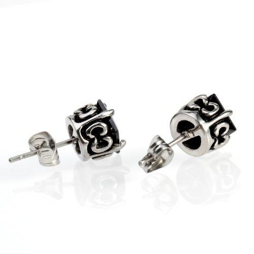 Wholesale Crytal Cube Beaded Handmade Crystal Earrings Anti-allergic Ear Studs