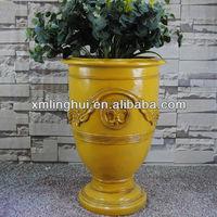 Indoor Fiberglass Flower Pot Painting Designs