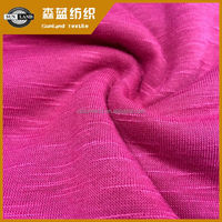 100% polyester slub single jersey fabric for lady top wear