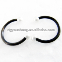 Lip piercing jewelry horseshoe lip rings