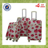 Popular Red Rose PU Spinner Wheel Iron Trolley System Trolley Travel Bags