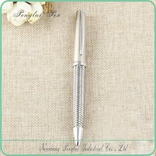 2015 Luxury stainless steel wire braided metal pen /metal ballpoint pen