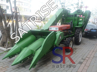 High efficiency corn harvester maize harvesting machine with tractor