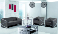 Guangzhou Fashion Simple Design Diamond Leather Meeting Room Office Sofa Set ( FOH-1430 )