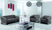 Guangzhou Fashion Simple Design Diamond Leather Meeting Room Office Sofa Set ( FOH-1430 )