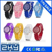 Colorful New Arrival Silicone Jelly Watch/Jelly Wrist Watch/Black Silicone Watch For Kids
