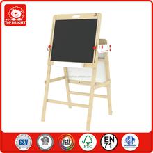 kids toy 2 pcs double-edged boards lifted chalkboard and whiteboard blackboard folding wooden magnetic drawing board for kids
