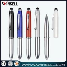 Top seller lowest price metal twist stylus ballpoint pen