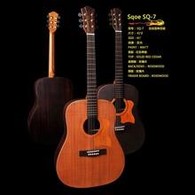 Sq-7 katı kırmızı sedir akustik gitar isimleri yaylı çalgılar